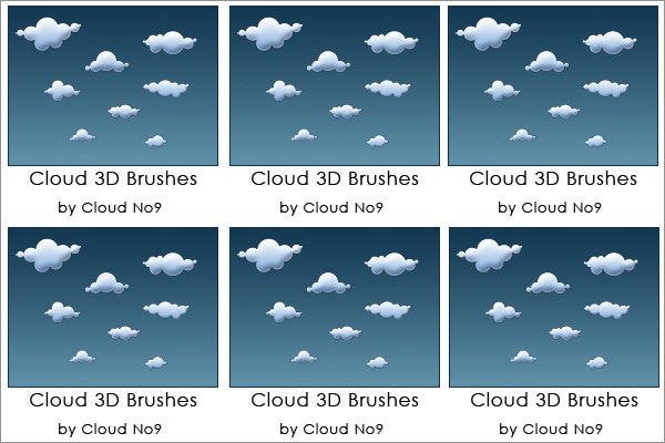 cloud 3d brushes ver