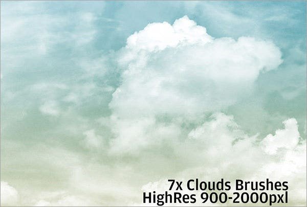 25+ Cloud Photoshop Brushes - Free ABR, ASL, ATN Format Download
