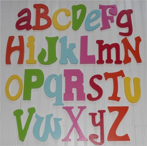 colorful nursery alphabet letters for your kids
