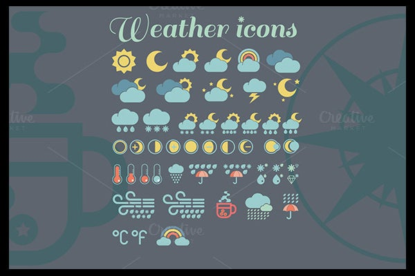 colorful weather icons free download