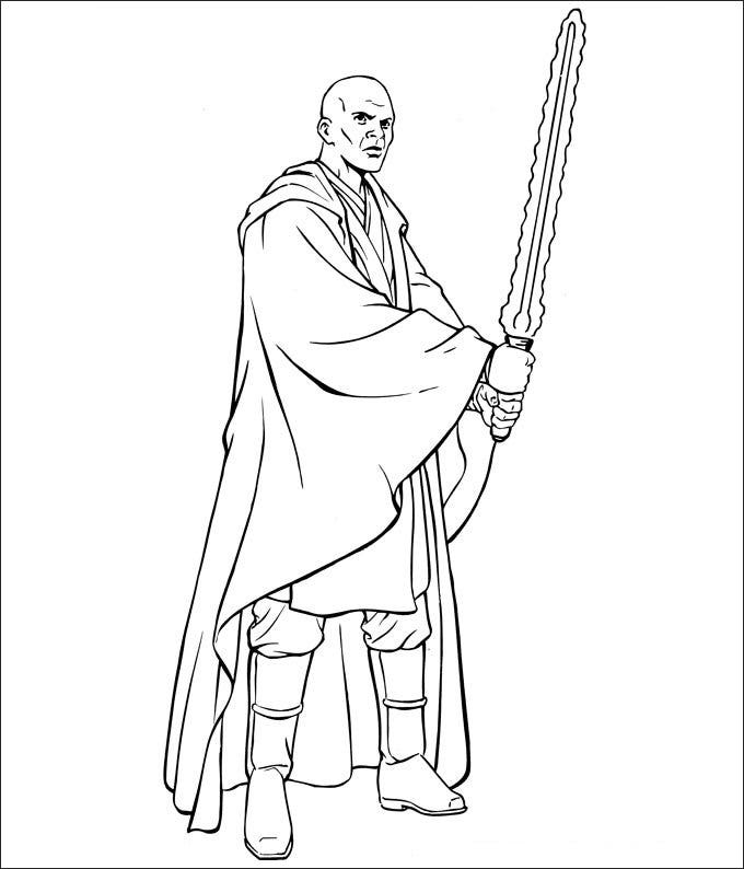 coloring page star wars