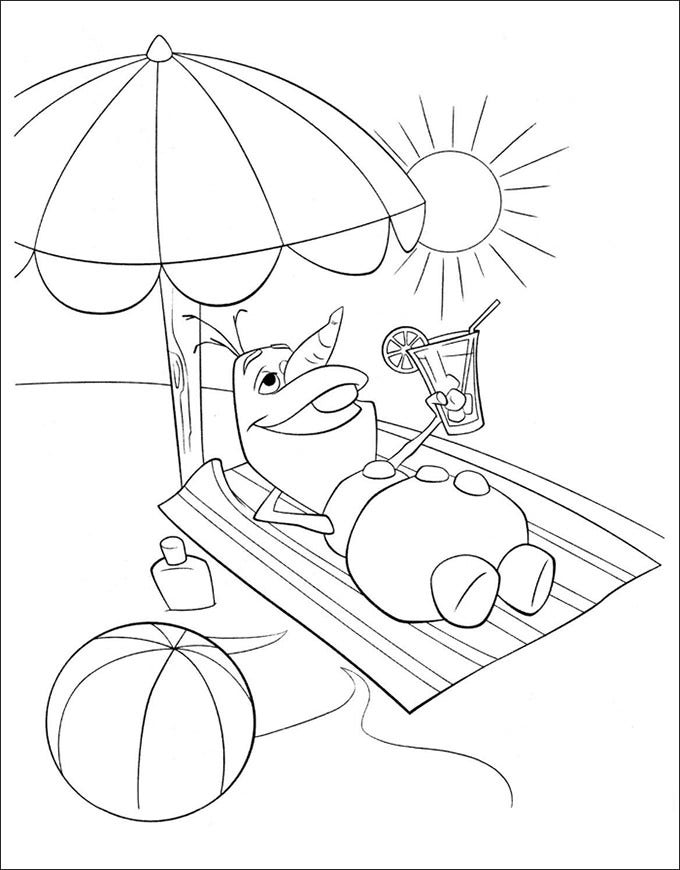 coloring page from frozen