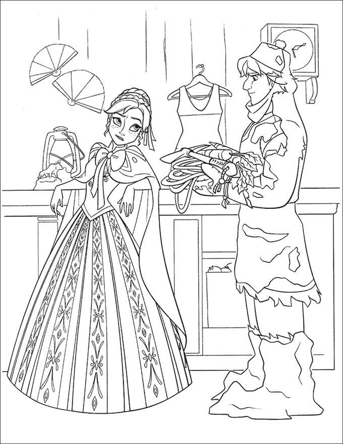 30 Frozen Coloring Page Templates Free PNG Format Download