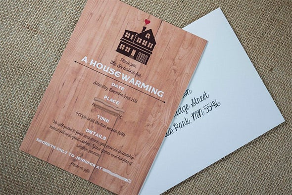 colourful housewarming invitation