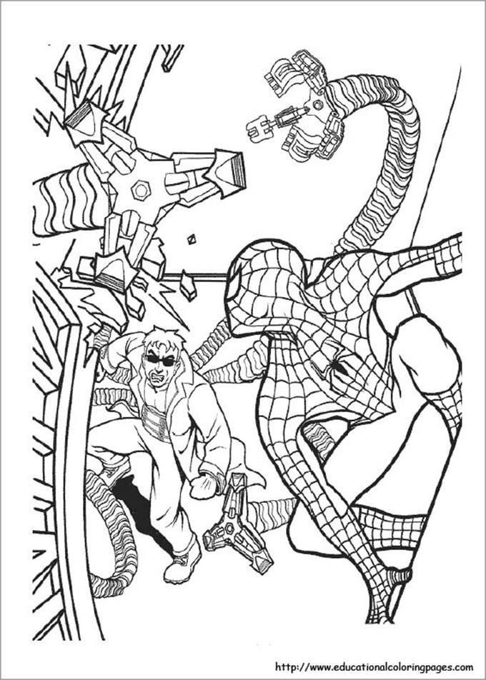 colouring pages for kids spiderman