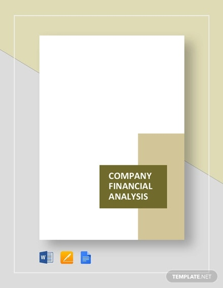 company financial analysis template
