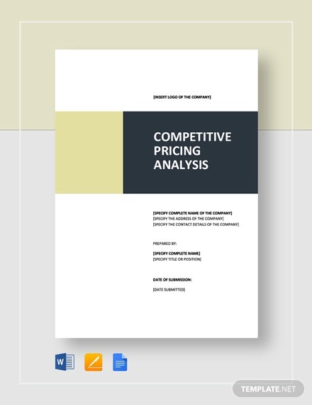 competitive pricing analysis template1