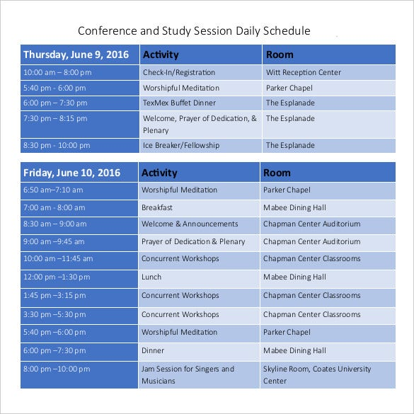 conference-room-daily-schedule