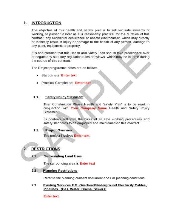 7 Construction Phase Plan Template Doc Pdf Free Premium