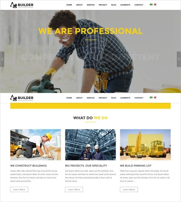 construction plumber joomla template1
