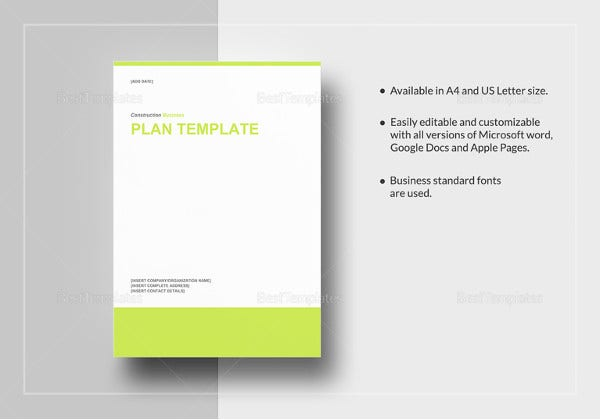 construction-work-plan-template