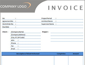 Independent Contractor Invoice Template - Contractor invoice template