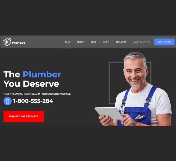 contractor plumber wordpress themes