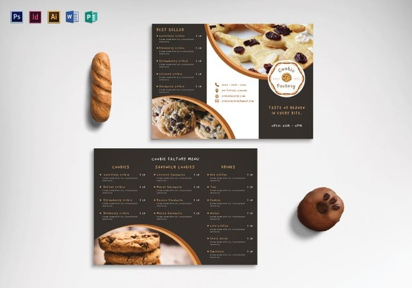 Trifold Menu Template Aprilonthemarchco - Folded menu template
