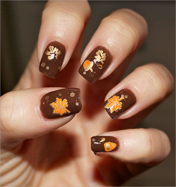 Cool Fall Nail Design