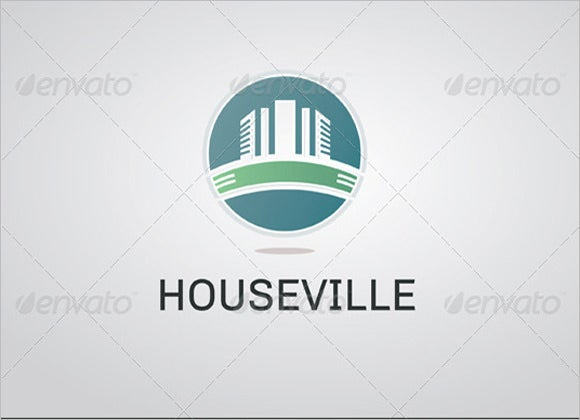 cool house ville construction company logo