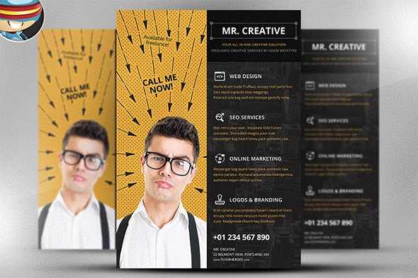 cool mr creative campaign flyer