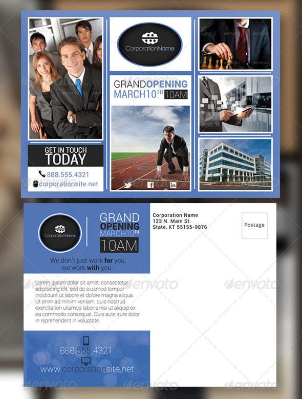 cool postcard flyer template
