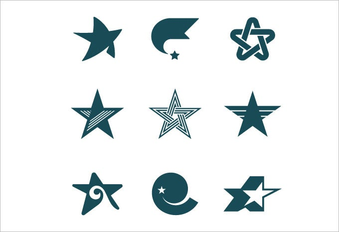 cool star logos set