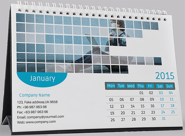 Desk Calendar Template   Free Psd Ai Indesign Eps Formats