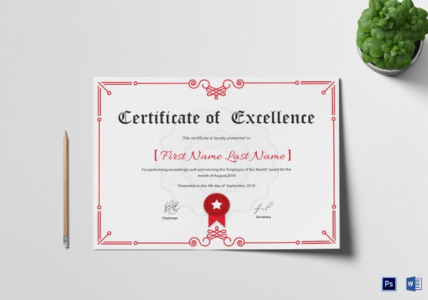 corporate-excellence-certificate-template