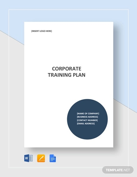 corporate training plan template