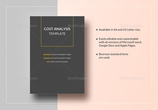 cost analysis template1