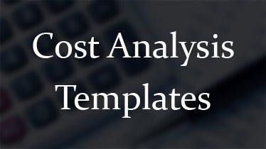 cost analysis templates