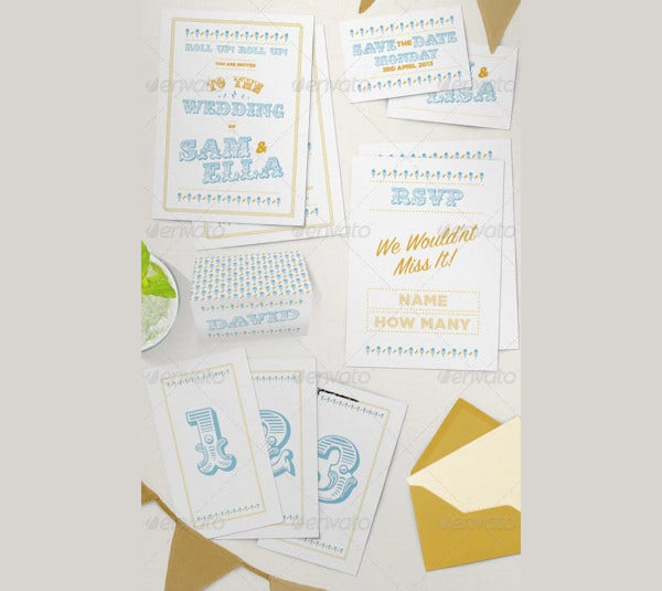 country fair wedding stationery set1