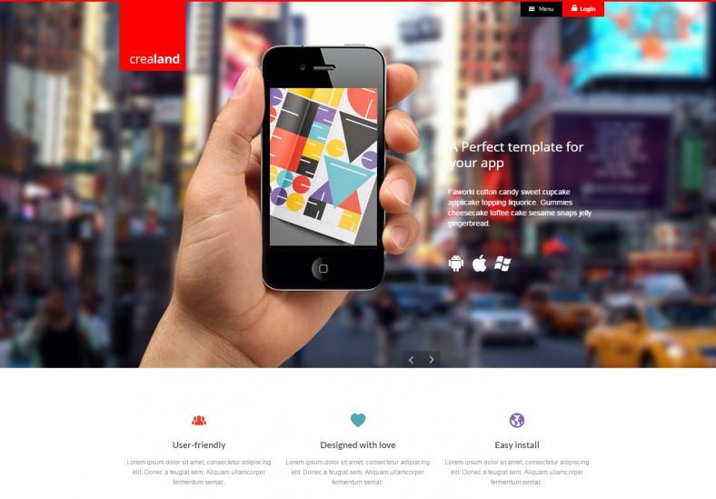 Responsive App Developer Wordpress Theme