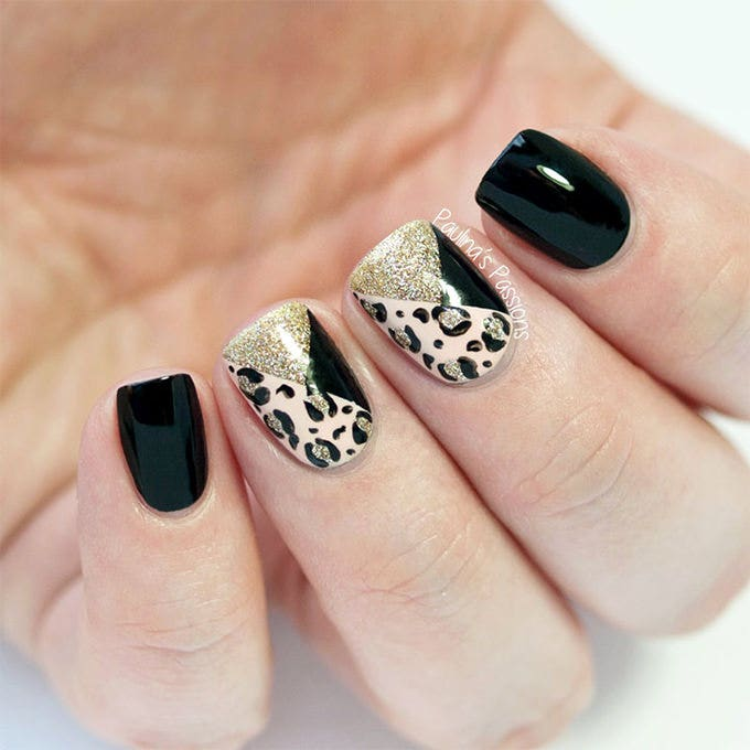 Nail Cake Blue Black Splodges Cow Print: 25+ Crazy And Creative Nail Designs