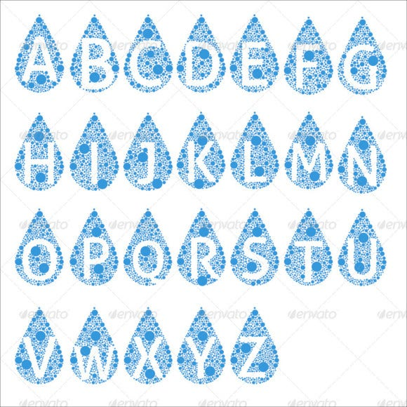 creative bubble alphabets