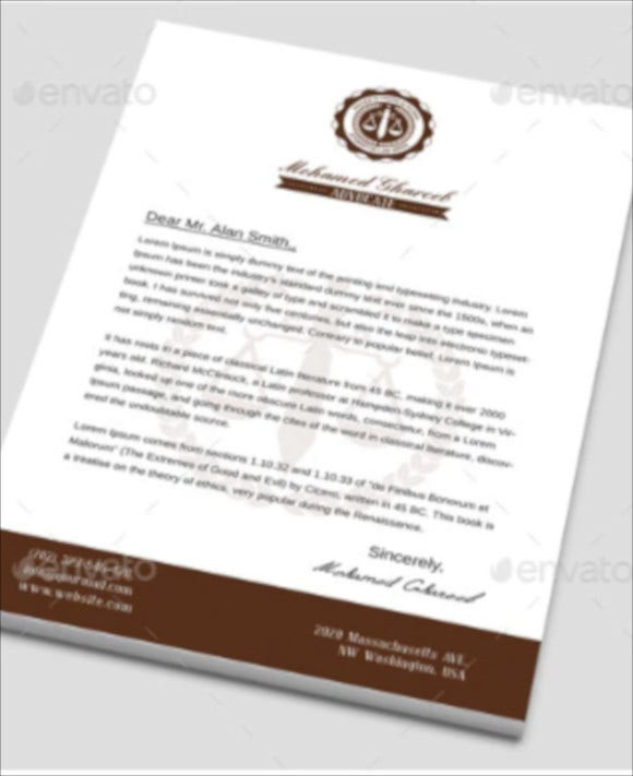 creative lawyer letterhead download