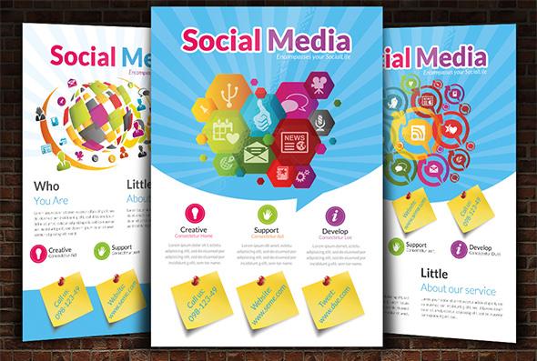 creative social media campaign flyer