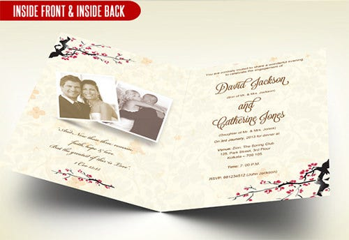 creative wedding anniversary invitation template