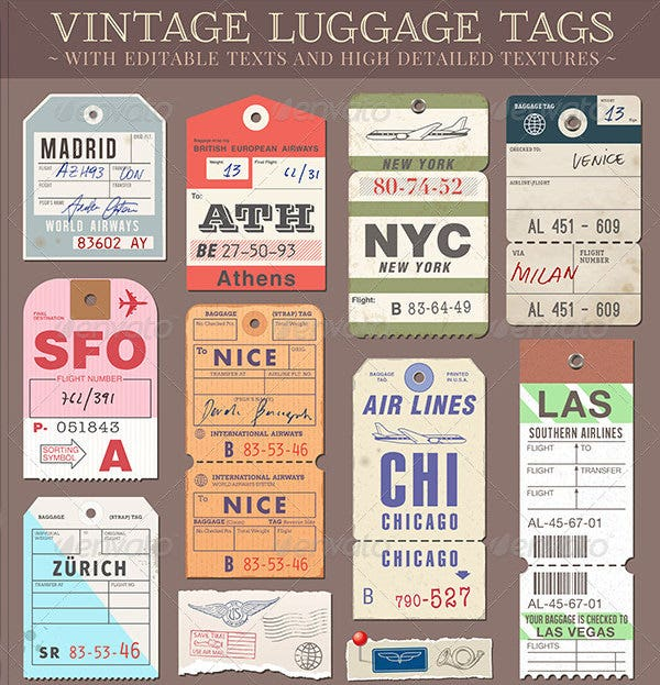 image relating to Free Printable Luggage Tags identified as Baggage Tag Template - Free of charge PSD Templates Down load Free of charge
