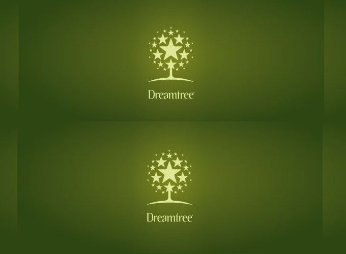 cute dream tree star logo