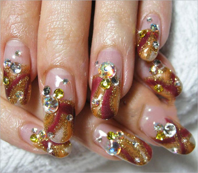 cute gel nail design