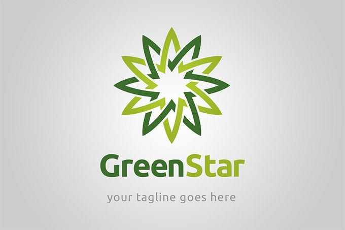 cute green star logo