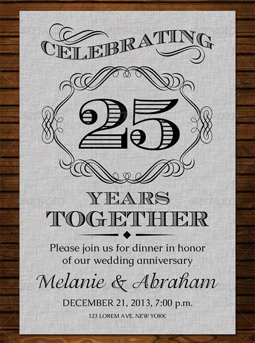 15+ Aniversary Invitation Templates - Free Psd Format Download