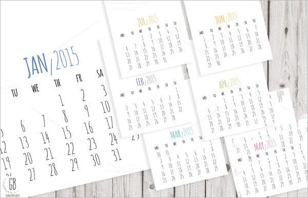 image regarding Printable Pocket Calendar referred to as 23+ Pocket Calendar Templates - No cost PSD, Vector EPS, PNG