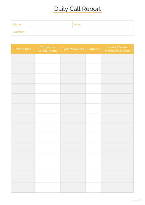 daily-call-report-template