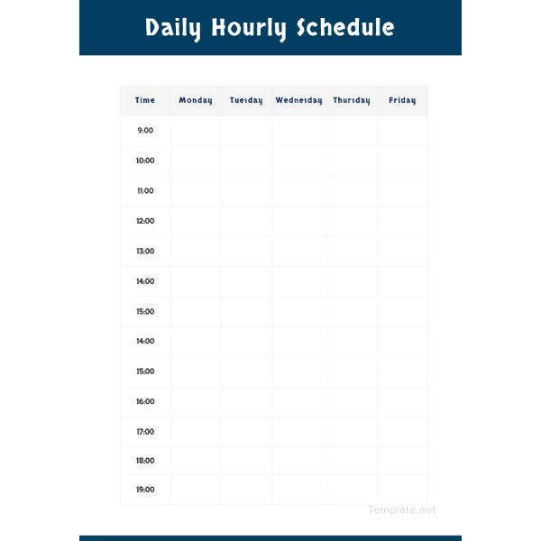 daily hourly schedule template1