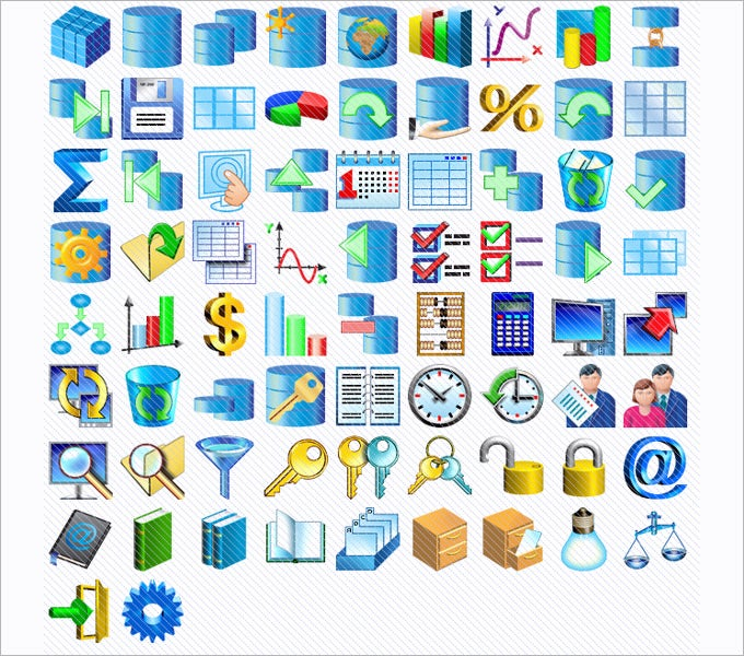 database software icons