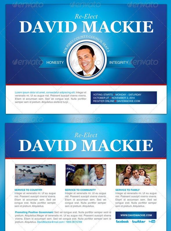 david mackie campaign flyer