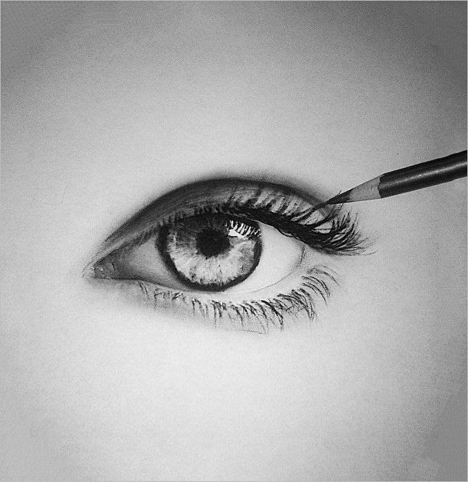 deep eye pencil drawing 1