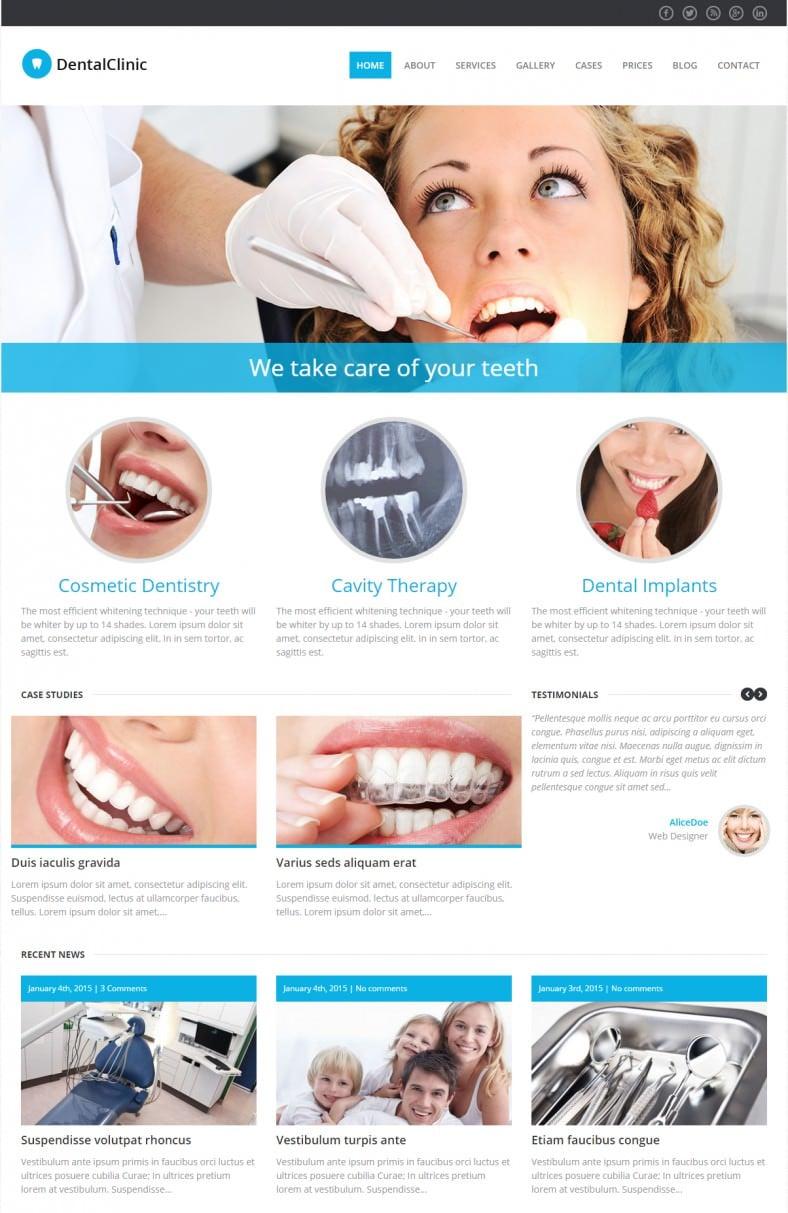 dental clinic wordpress theme 788x1213