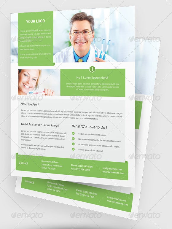 dentist medical poster template