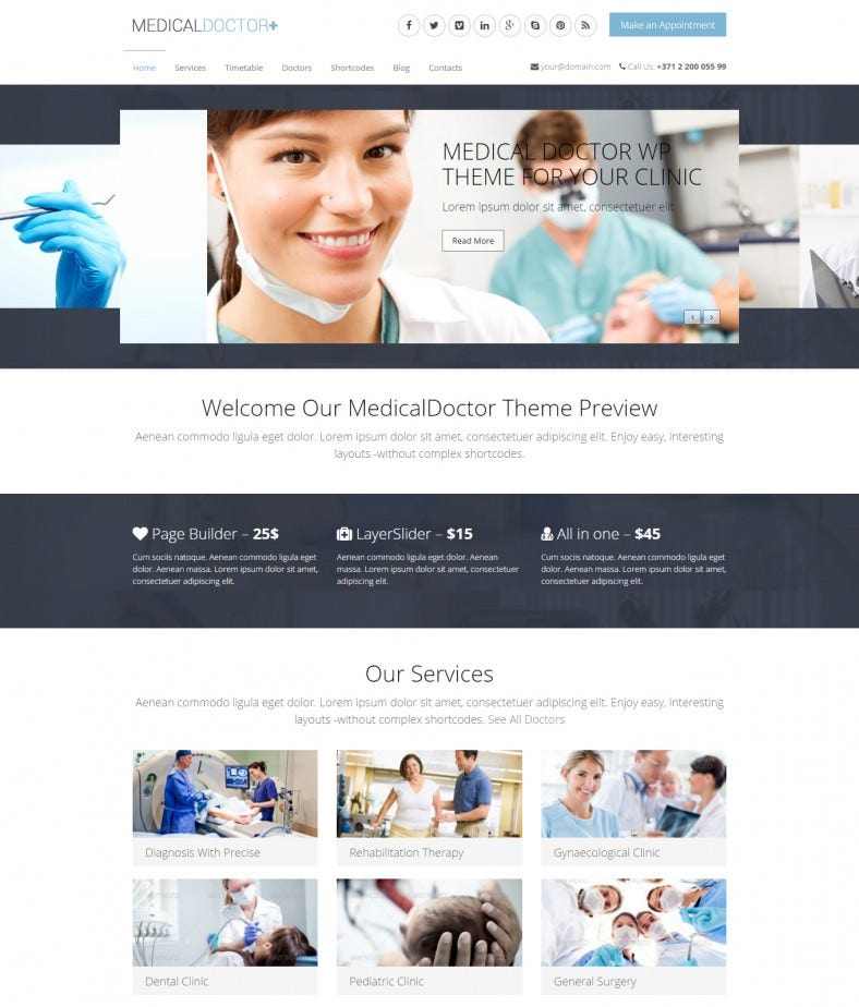 dentist wordpress theme for medical 58 788x924