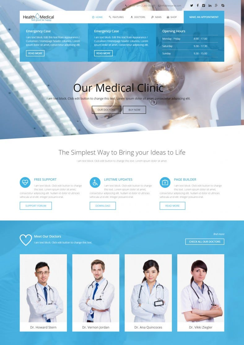 dentist wordpress website templates themes free premium free premium templates. Black Bedroom Furniture Sets. Home Design Ideas